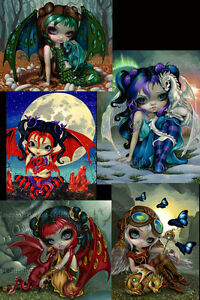 Dragonling Set of FIVE 8x10 fairy art prints by Jasmine Becket-Griffith SIGNED