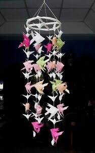 29 woven carp mobile multi colors, living room decorations, wall hanging nursery