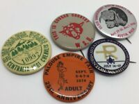 Vintage 1960's Washington State Festivities & County Fair Pins; Lot of 5 (RF521)