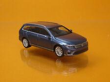 Herpa 038980 Volkswagen VW Passat Variant GTE E Hybrid havardblue metallic 1 87