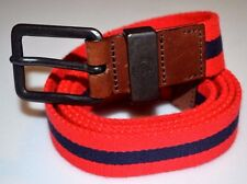 Diesel Red and Blue Striped Men Belt 40