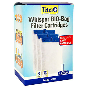 "NEW x3 Tetra Whisper FILTER CARTRIDGES ""L"" LARGE Activated Carbon HIGH QUALITY"