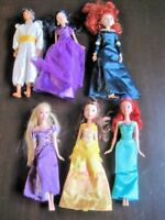 Disney Princess Doll Lot ~ 6 Dressed Barbie Prince & Princesses