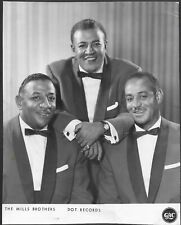 ~ The Mills Brothers Original 1960s Dot Records Promo Photo Jazz Pop Vocal