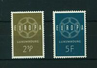 Luxembourg 1959 Europa full set of stamps. Mint. Sg 659-660.