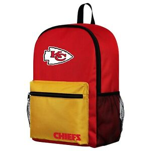 NFL Kansas City Chiefs Two Tone Backpack with Team Logo
