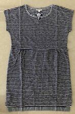 New Ladies Dress Size 10 White Stuff Cotton Short Sleeve Blue