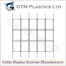 Cable Window Estate Agent Display - 5x3 A4 Portrait - Suspended Wire Systems