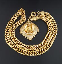 Resat altin ceyrek tugra cadena de oro moneda gp 22 quilates dorado zincir 56 mm