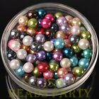 New 30pcs 8mm Round Glass Pearl Loose Spacer Beads Jewelry Making Mixed Color