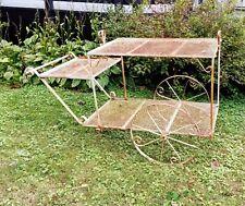 Mid Century Wrought Iron Garden Flower Cart Display Salterini 59 L x 22 W x 40 H