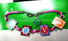 Girl Scout NEW BRACELET Spells LOVE Sturdy Cord GIFT Reduced Price Multi=1 Ship