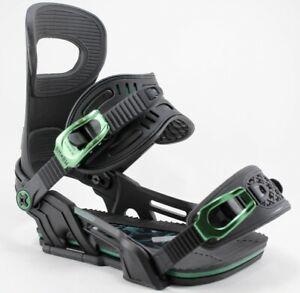 Bent Metal Transfer Snowboard Bindings Medium (US Men's 8-11) Black/Green New