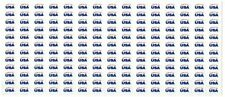 """Oval Made in Usa American Flag Decal bulk Sticker Label .25"""" x .5"""" United States"""