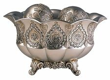 New Silver Paisley Bowl With Spheres Silver