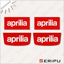 X4 PEGATINAS APRILIA  STICKERS MOTO SCOOTER  VINILO SERIGRAFIADA TUNING ADESIVO