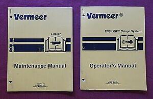 GENUINE VERMEER ENSILER BALER BALER TIE WRAP SYSTEM OPERATORS MAINTENANCE MANUAL