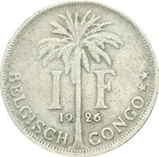 Belgian Congo Belge 1 Franc 1926 KM#21 Albert I - Dutch text (4979)
