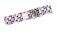 "1.5"" Martingale Dog Collar RED & BLUE HOUNDSTOOTH Greyhound Lurcher 15""-22"" LRGE"