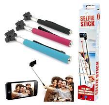 Monopod Selfie Stick Telescopic Mobile Phone iPhone Camera Holder - BLUE