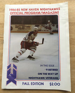 Vintage 1984 AHL New Haven Nighthawks Program vs Moncton Golden Flames