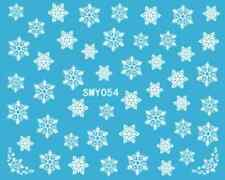 Nailart stickers autocollants ongles scrapbooking: jolis flocons de neige blancs