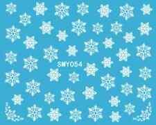 Nailart stickers autocollants ongles scrapbooking: jolis flocons de neige blancs