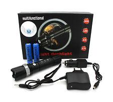 Profi Cree LED SWAT Taschenlampe HI-Power   inkl. 2 x Akkus Haus + KFZ Ladegerät