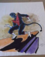 MIKE GUSTOVICH 1980 NIGHTCRAWLER X-MEN Color ORIGINAL Art UNPUBLISHED