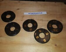 Round Black Size Ring Dividers Gold Print Xs-Xxl (5 Pcs Per Size) 25 Pcs Total