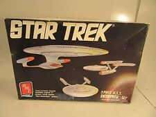 1988 Ertl Star Trek three piece Enterprise set Model  New