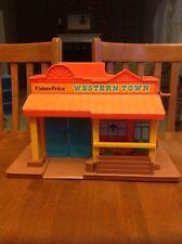 VINTAGE 1982 Fisher Price Western Town