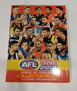 AFL Team 2018 Official Collector Game Cards Album + 182 Cards + 1 Sealed Pack