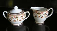 Queen's Imari Porcelain Sugar Bowl & Creamer From India