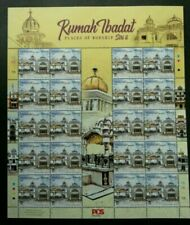 Malaysia Places Of Worship II 2019 Sikh Temple Religious (sheetlet) MNH