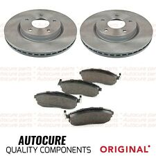 FOR NISSAN JUKE 1.5 DCI MK1 F15 COATED VENTED FRONT BRAKE DISCS AND PADS PREMIUM
