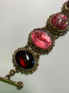 Gorgeous Stephen Dweck 6-stones set in bronze 7-inch bracelet