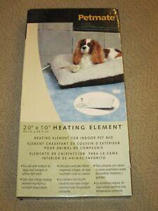 """Petmate 20"""" x 10"""" Pet Bed Heating Element for In Door Beds"""