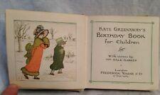 Kate Greenaway's Birthday Book for Children - 1917 Frederick Warne, Illustrated