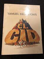 Samuel Bronston's EL CID Movie Promo Book Charlton Heston Sophia Loren vtg 1961