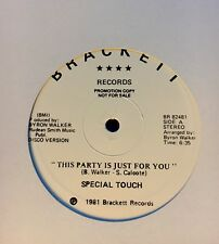 "SPECIAL TOUCH - ""THIS PARTY IS JUST FOR YOU"" 12"" (R&B, Funk, Boogie, Rap, vinyl)"