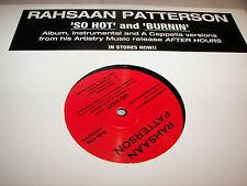 "Rahsaan Patterson So Hot / Burnin' 12"" Single NM Artistry 2004 ART7001V1"