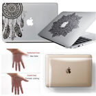 Crystal Clear Hard Case Shell+Decal Sticker for Macbook Air 13 Pro 13/15