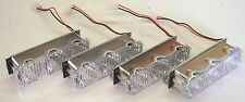 Whelen Justice LED LIGHTBAR Con 3 AMBER set of 4 NEW