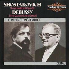 Shostakovich/Debussy THE MEDICI STRING QUARTET Nimbus CD