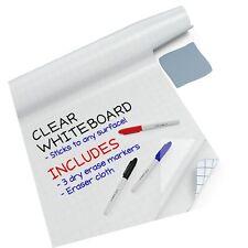 """New listing Kassa Clear Dry Erase Board Sticker - 17.3"""" x 78� (6.5 Feet) - 3 Dry-Erase Ma."""