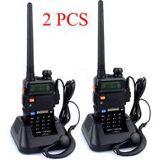 2pcs Baofeng UV-5R Handheld FM Dual Band VHF/UHF Two way Walkie Talkie Radio KF