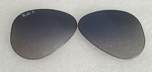NEW Ray-Ban RB3025 Aviator Replacement lens Polarized Blue/Grey Grad 55mm