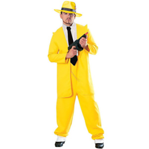 Yellow Zoot Suit Adult Costume The Mask Jim Carrey Movie Dick Tracy Gangster