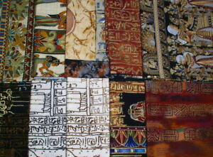 """Vicky's Private Stash PRE-WASHED Egyptian Themed Fat Quarter (18"""" x 20""""/21"""")"""